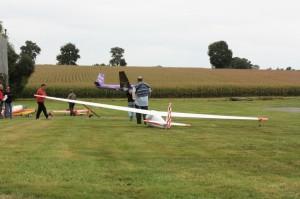 Les planeurs parés à voler